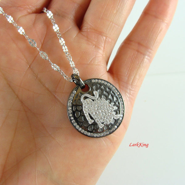 Sterling silver leo necklace, lion necklace, star sign necklace, zodiac necklace, horoscope necklace, leo zodiac necklace, personalized BN11