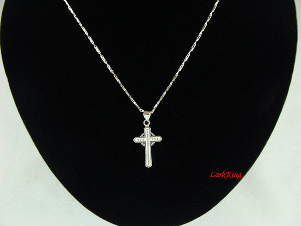 Sterling silver cross, cross necklace, sterling cross, celtic cross necklace, silver necklace, cross gift, cross charm, cross jewelry, NE115