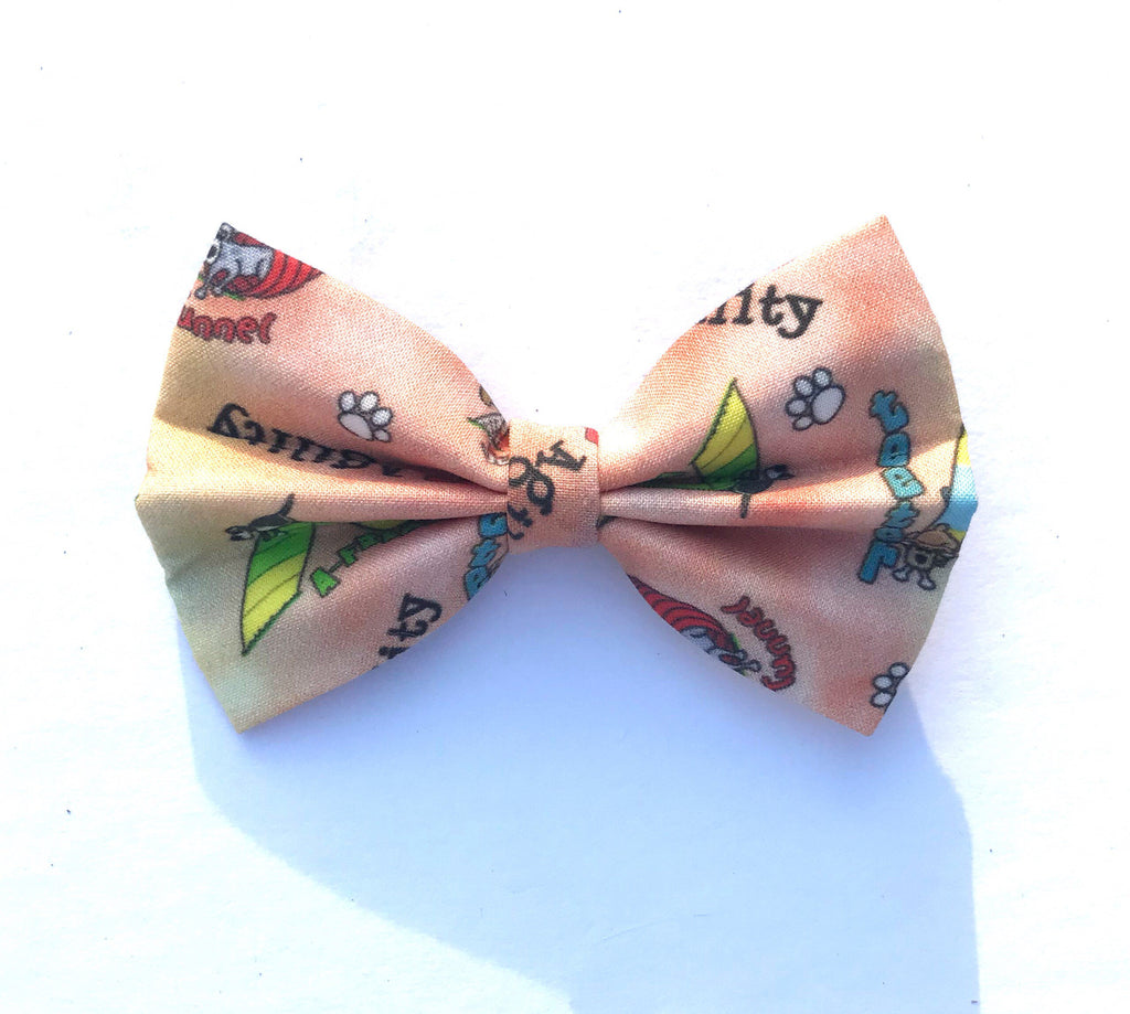 Peach agility equipment bow tie