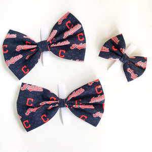 Cleveland indians baseball  bow tie