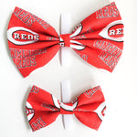 Cincinnati reds baseball dog bow tie