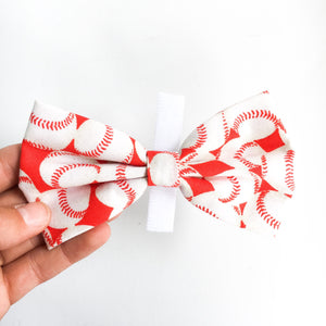 Baseball dog bow tie