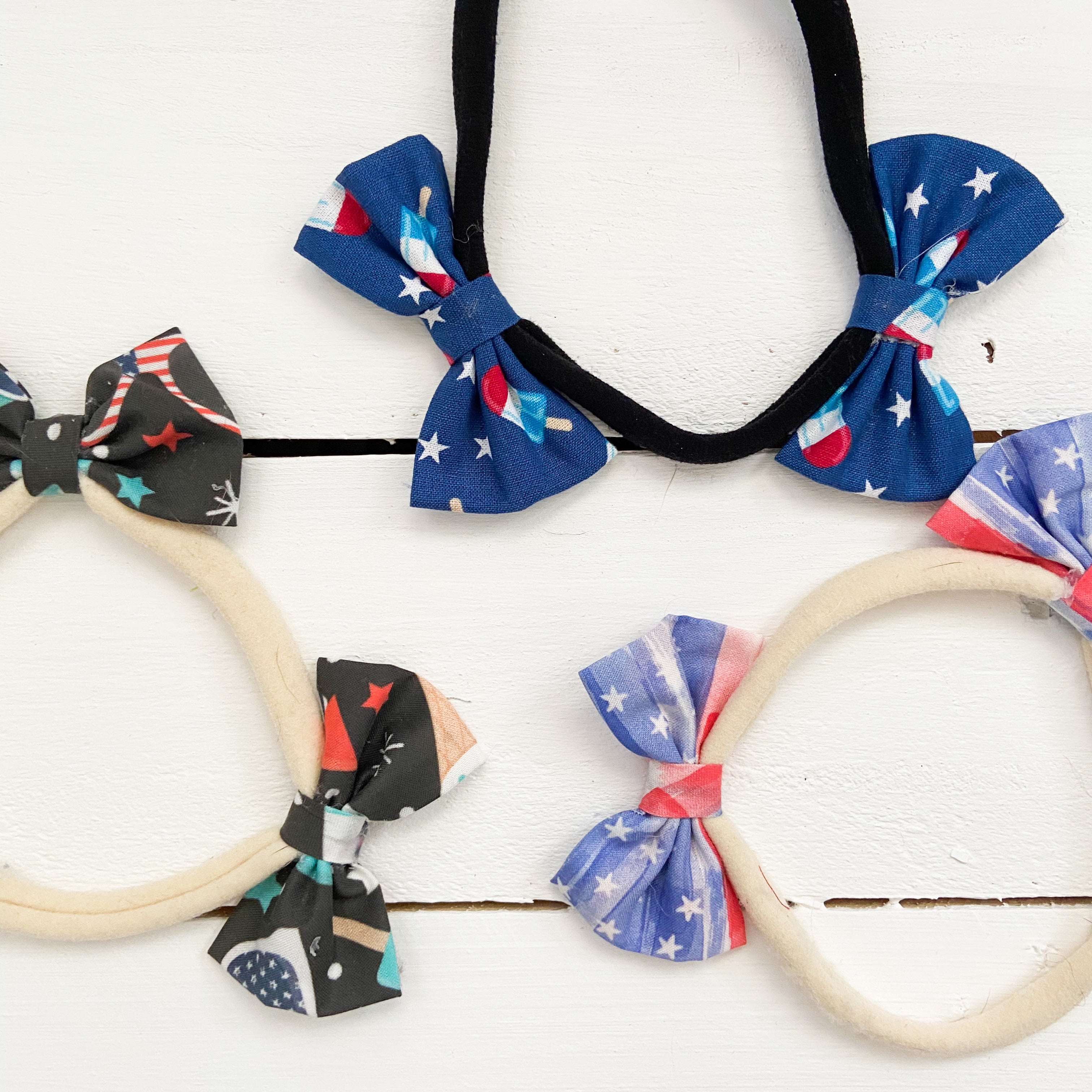 Just 4th of July things double bow headband