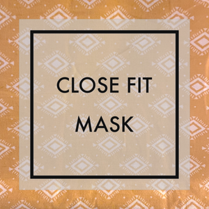 Maize geometric design Close fit face mask with nylon ear loops