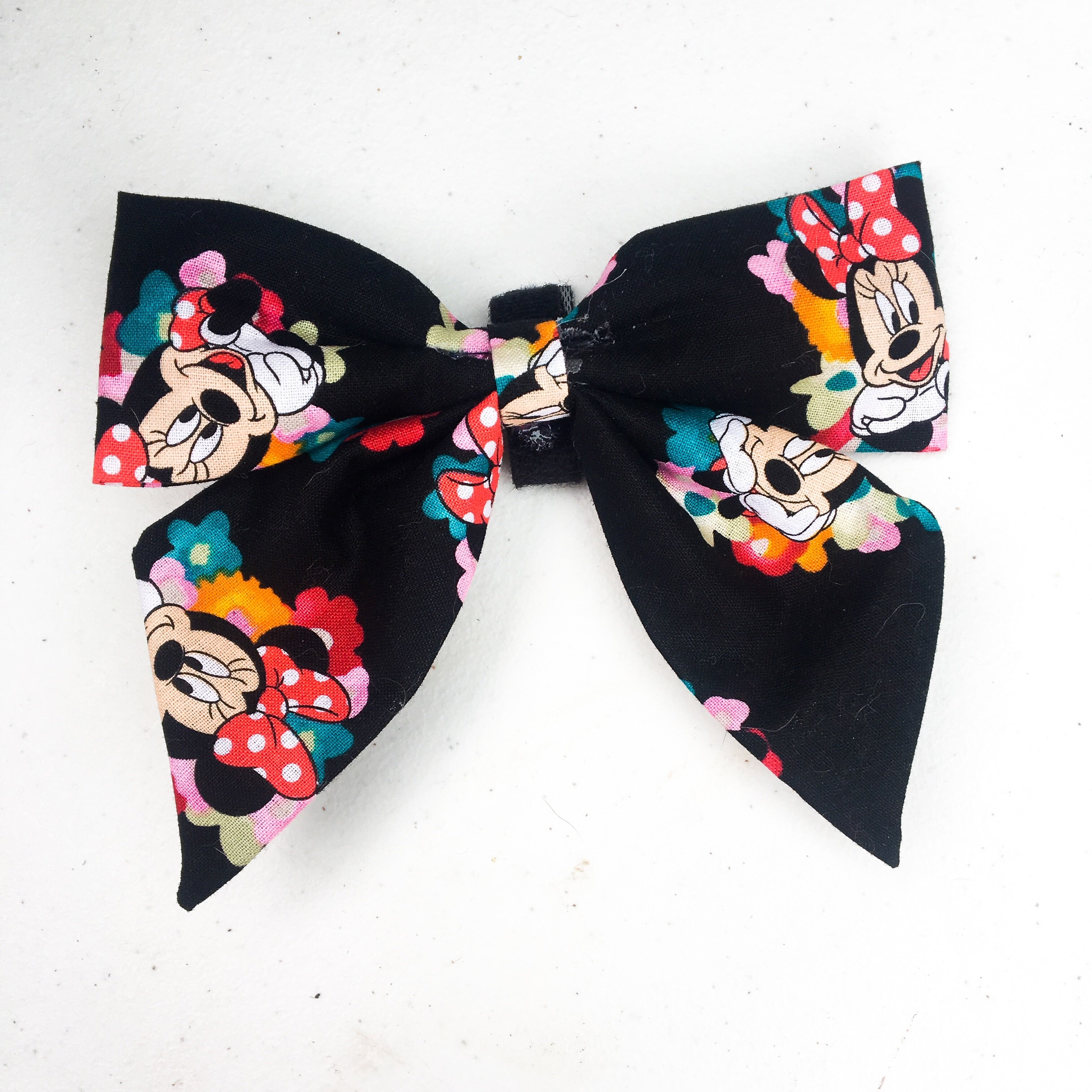 Spring floral Minnie Mouse sailor bow