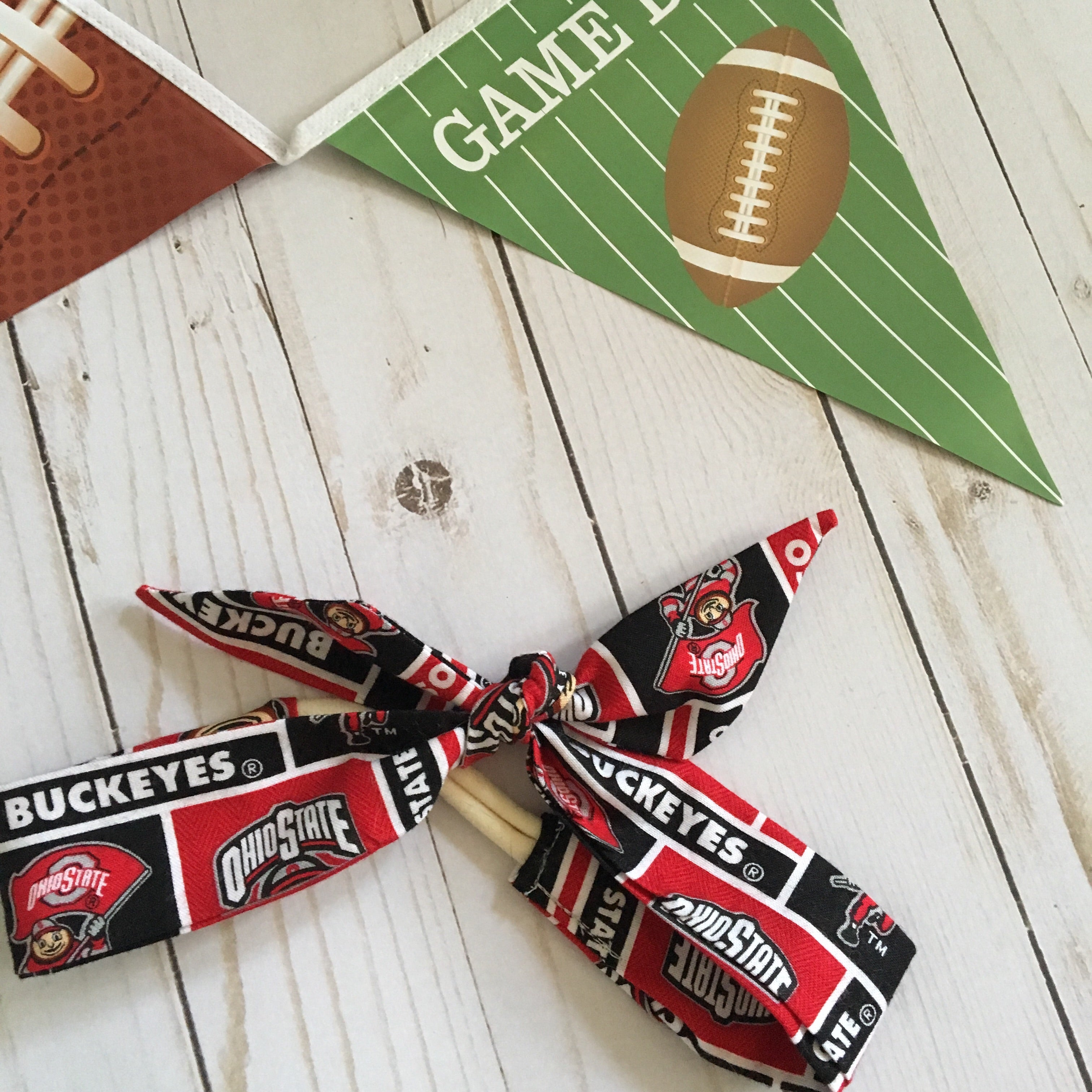 Ohio state black and scarlet Rosie headband