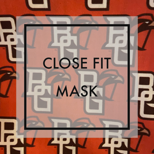 Bowling Green BGSU Close fit face mask with nylon ear loops