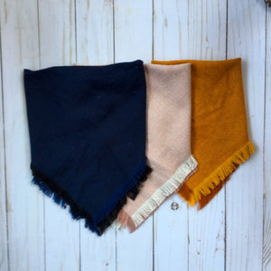Doggie and me: Butternut gold herringbone tweed blanket scarf