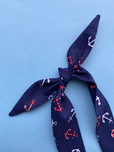 Navy anchors Rosie headband