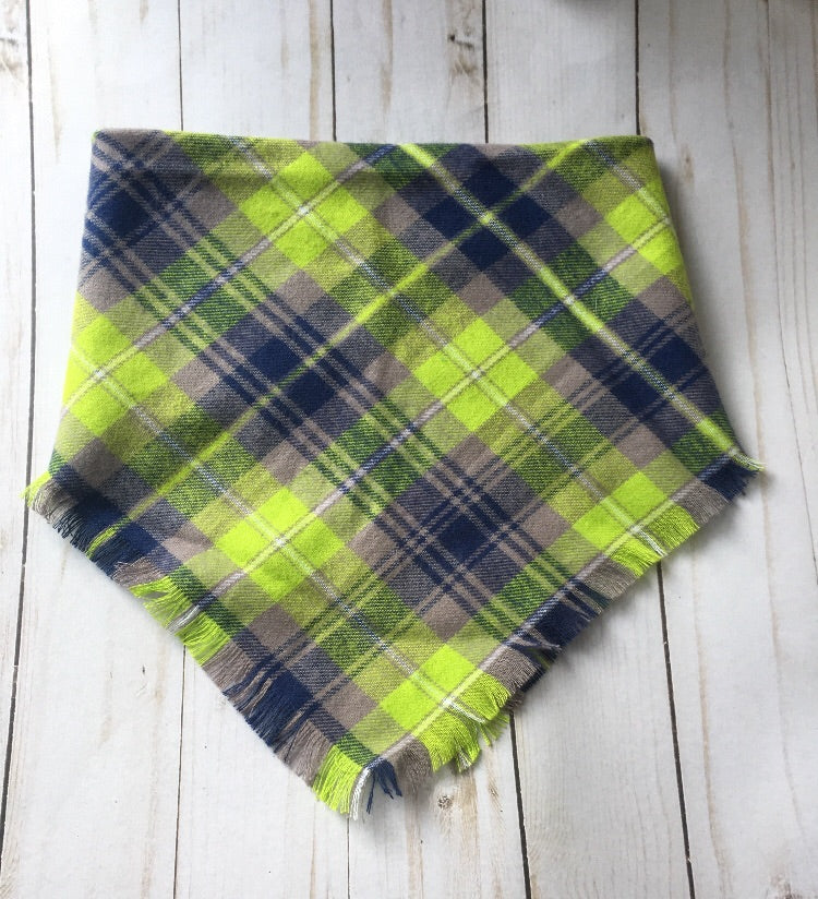 Blanket scarf bow headband tennis ball plaid