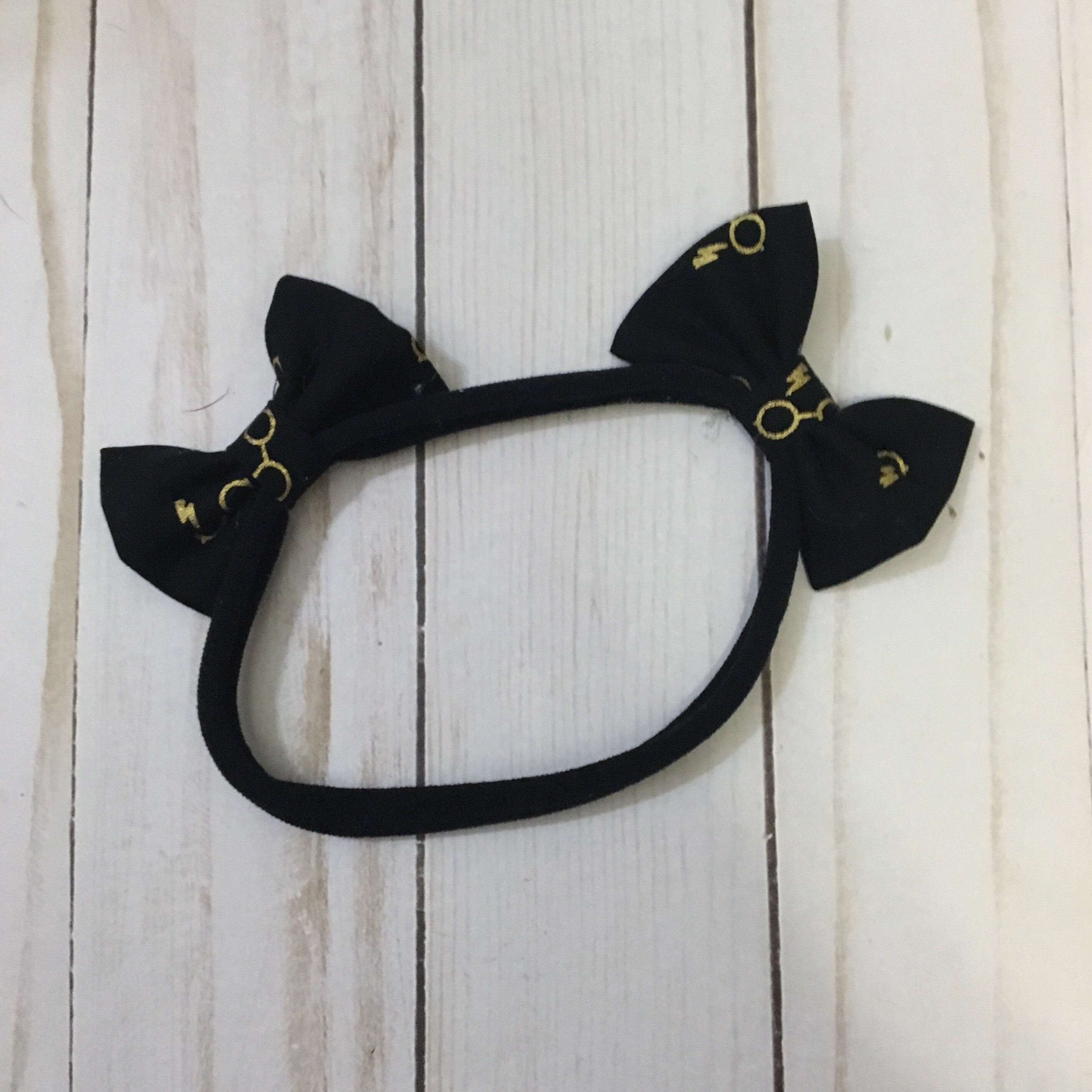 Large dog Harry Potter double bow headband