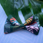 Tropical leaves bow tie