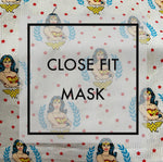Close fit face mask WonderWoman with nylon ear loops