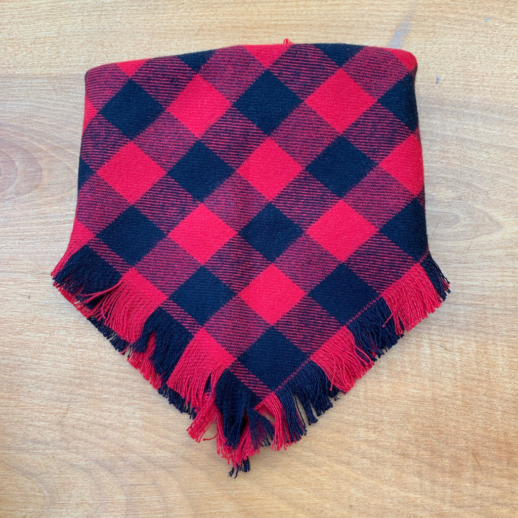 Doggie and me: Buffalo plaid blanket scarf