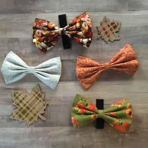 Maroon and gold fall mums bow tie
