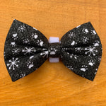 Paw print and snow flake  bow tie