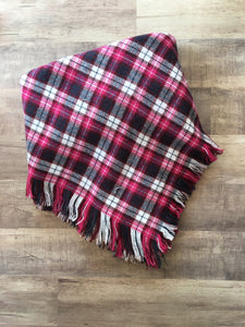 Doggie and me: Pink plaid blanket scarf