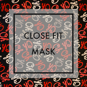 OH Close fit face mask with nylon ear loops