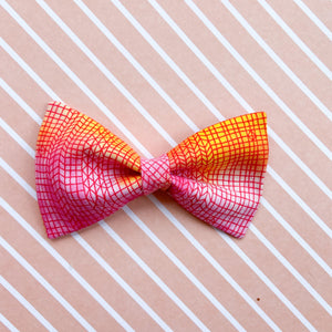 Hot pink and orange ombré bow tie