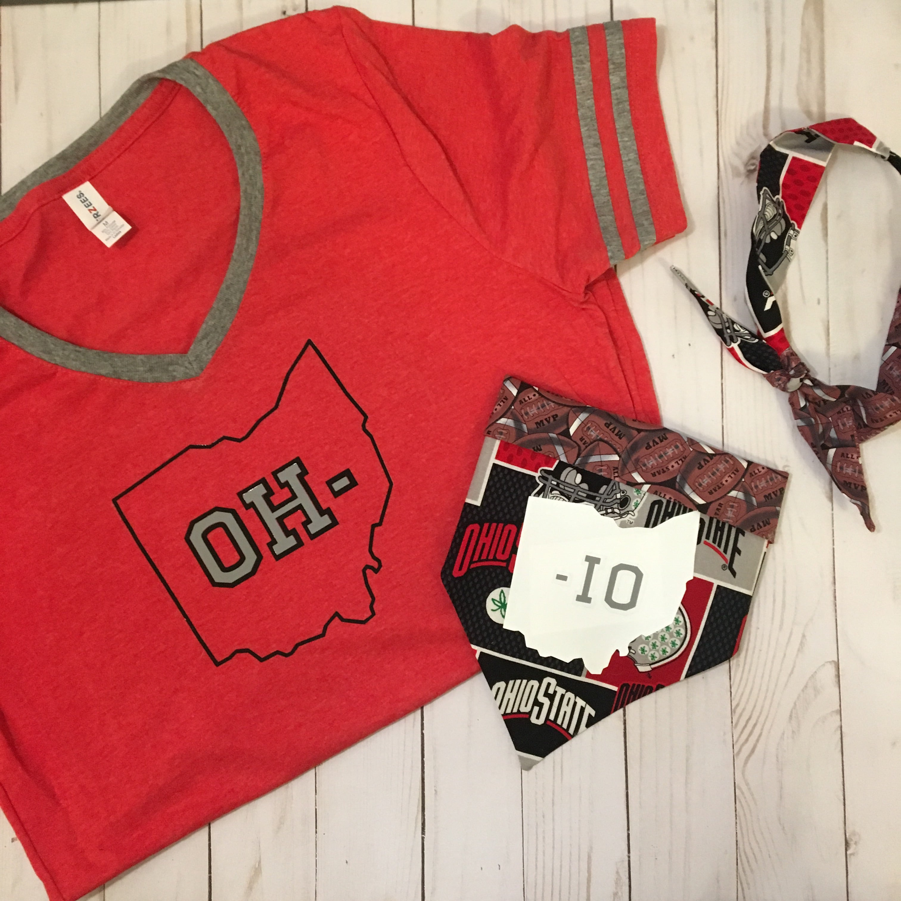 OH- red unisex tee