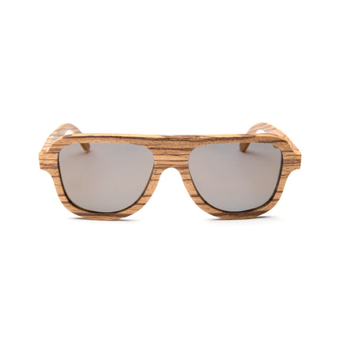 Gaslamp Zebra Wood Sunglasses