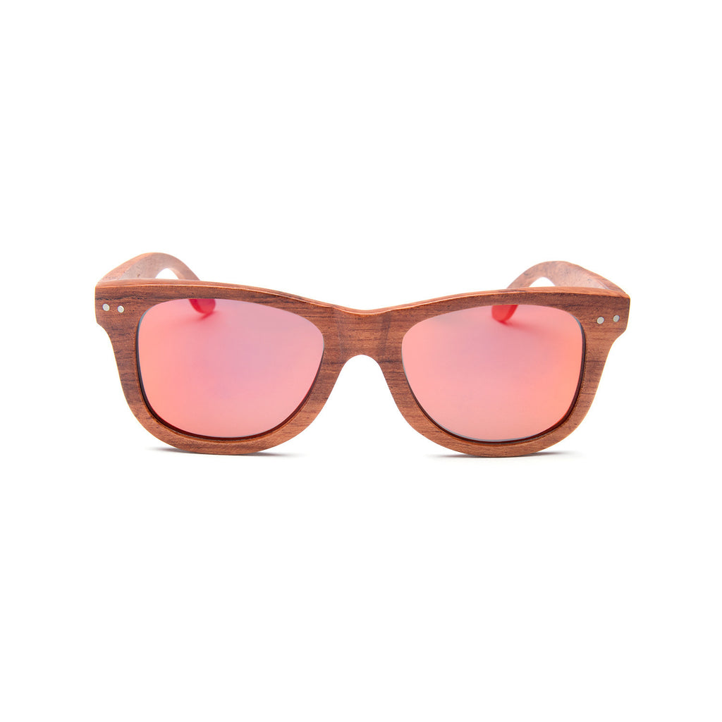 Melrose Red Rosewood Sunglasses