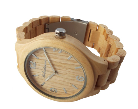 Mammoth Wood Watch - 55mm Large Face - Tan