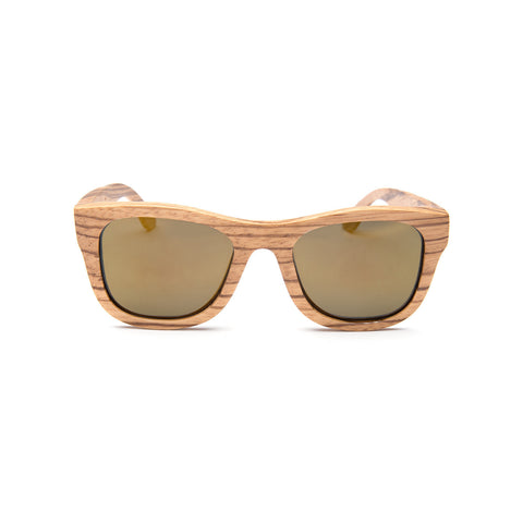 Hermosa Zebra Wood Sunglasses