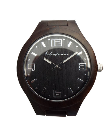 Mammoth Wood Watch - 55mm Large Face - Brown