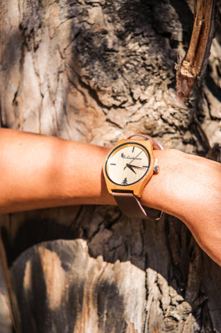 Sonoma Watch Collection - Brown Strap/Bamboo Case