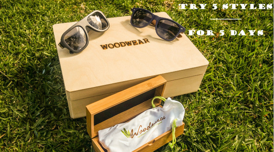 wooden sunglasses and wood watches