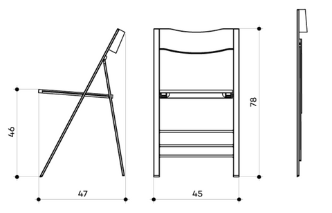 Spaceman slim folding chairs dimensions