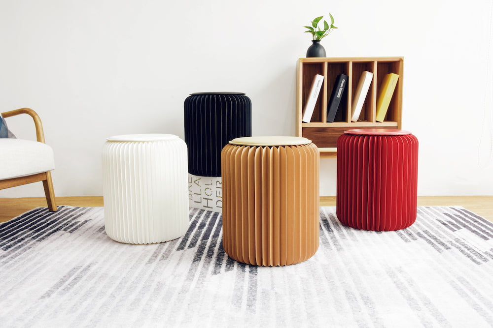 Spaceman Expand Paper Furniture stools small coffee side table