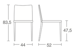 Spaceman dining chairs complement space saving table