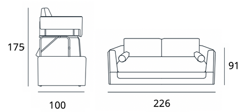 Spaceman Slumbersofa Duo sofa bed dimensions