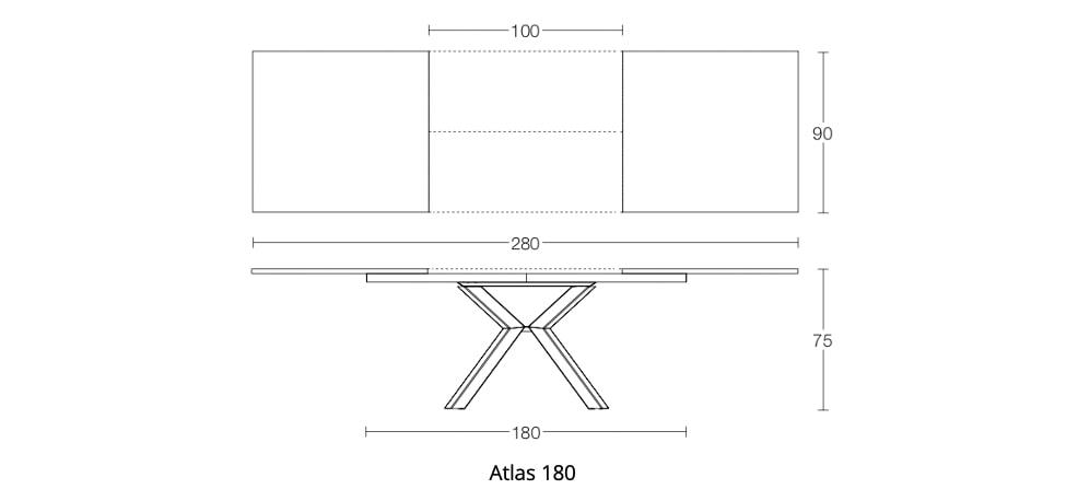 Spaceman Atlas extending dining table dimensions 2