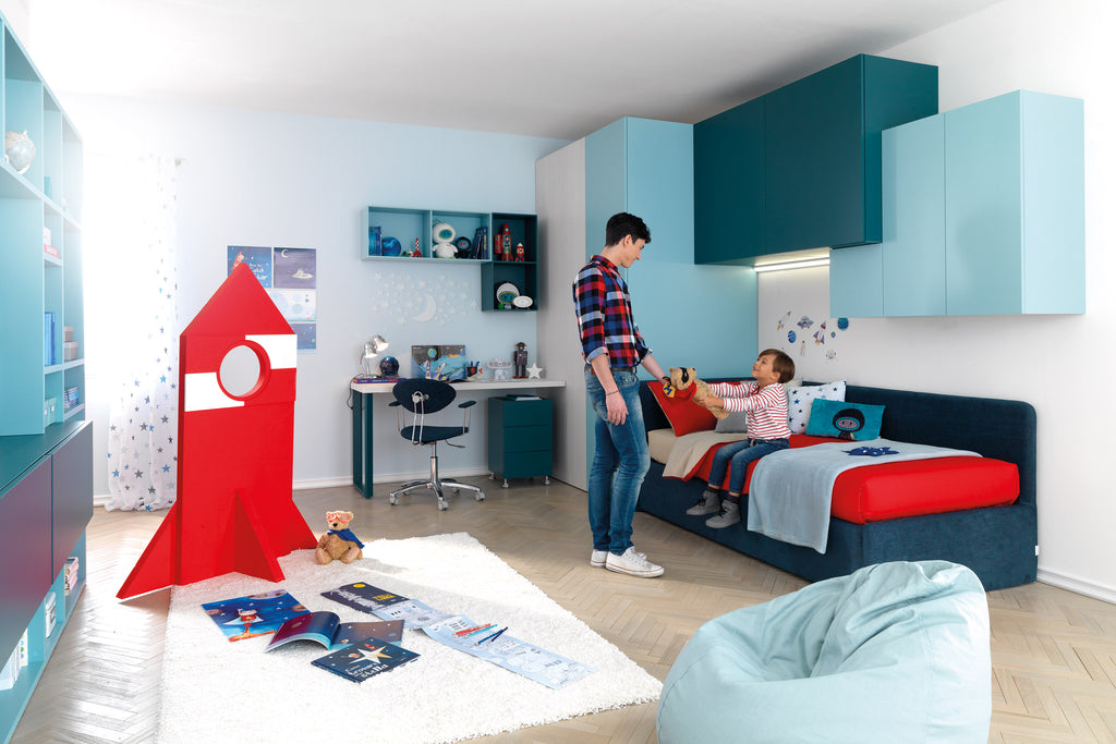 Spaceman Skid kids bedroom