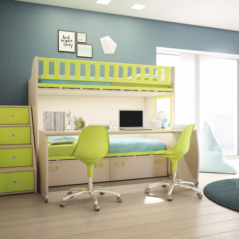 Spaceman space saving kids beds for small rooms Zigzag bunk bed