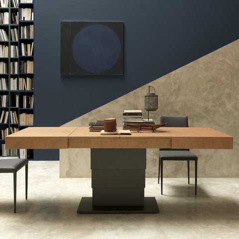 Spaceman space saving coffee to dining table Armadillo extended and raised