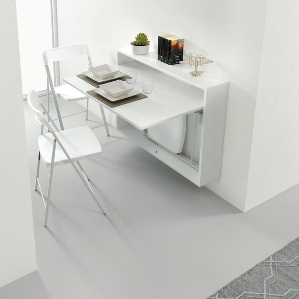 Ensemble mini ~ wall mounted table + chairs,Dining table - SPACEMAN