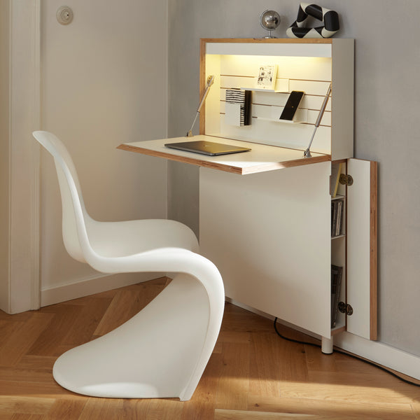 Deskappear home office ~ Concealed workspace with storage