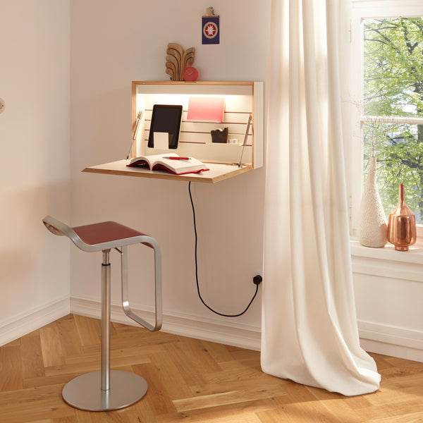 Deskappear Mini home office ~ Concealed wall-mounted workspace