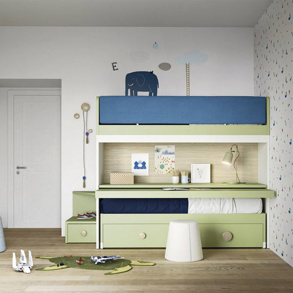 Hovver ~ kids bunk beds + desk