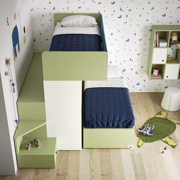 Hovver ~ kids bunk beds + desk, - SPACEMAN