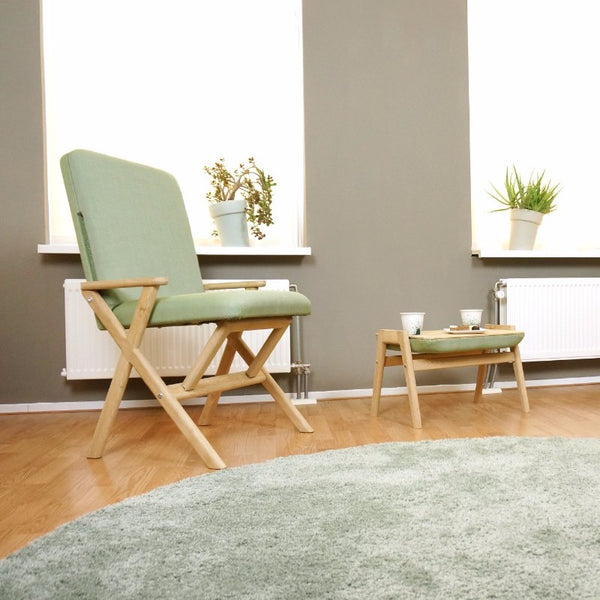 Zen ~ adjustable chair and footstool