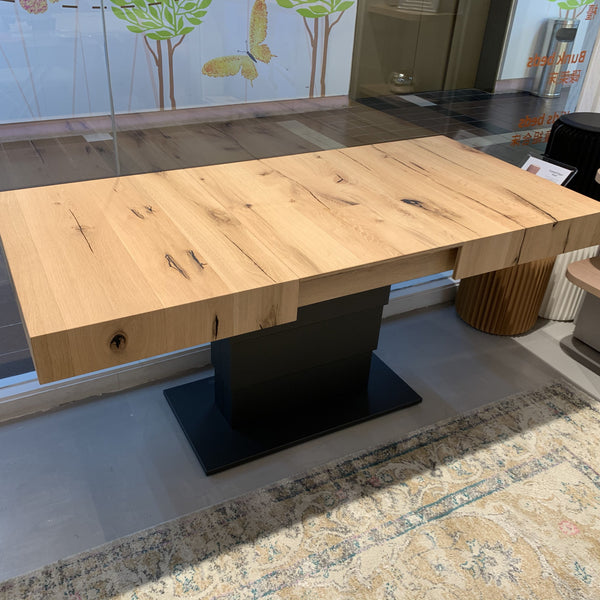 SALE: Armadillo ~ EX-DISPLAY Aged Oak coffee/dining table - Spaceman HK