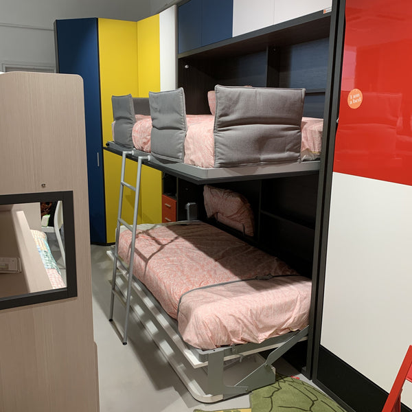 SALE: Tuckin Bunk Beds ~ EX-DISPLAY Single Bunk Beds + cabinets + Mattresses - Spaceman HK