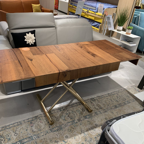 SALE: Wings ~ EX-DISPLAY Aged Oak compact coffee/dining table - Spaceman HK