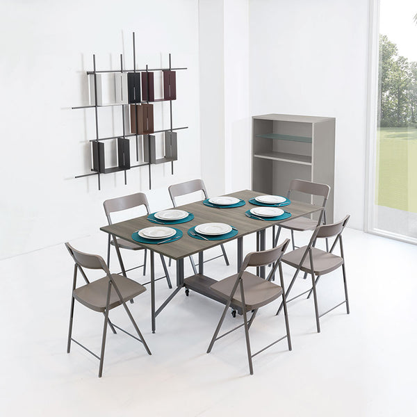 LAST ONE: Ensemble console + dining table + chairs - Genuine discount save 40%,Dining table - SPACEMAN