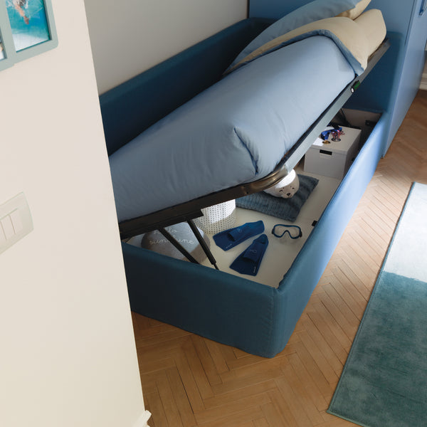 Pandora ~ single kids bed with hidden storage, - SPACEMAN
